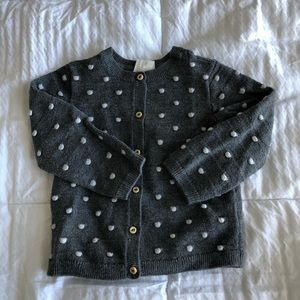 HM Toddler grey dotted cardigan 12-18 months